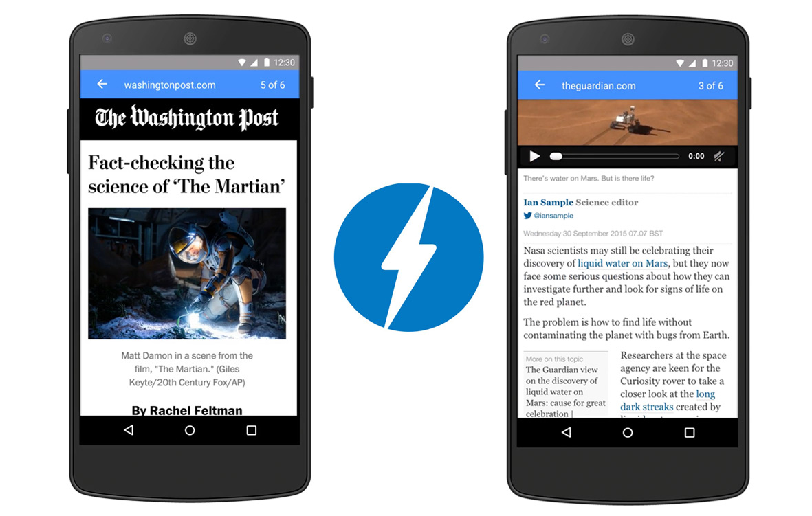 Googles Accelerated Mobile Pages (AMP) hilft mobilen Traffic schneller zu bedienen