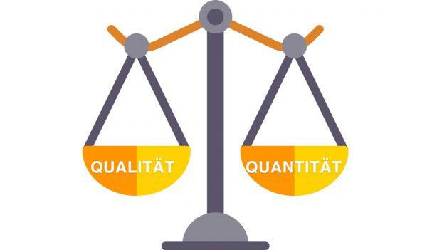 In Balance noch vertretbar, dennoch sollte Qualität immer überwiegen